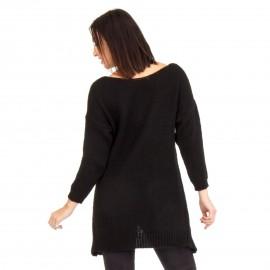 Μαύρη Ασύμμετρη Πλεκτή Μπλούζα