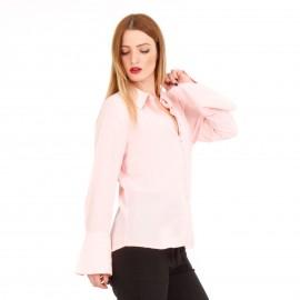 Ροζ Πουκάμισο με Κουμπιά