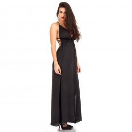 Μαύρο Πολυμορφικό Maxi Φόρεμα