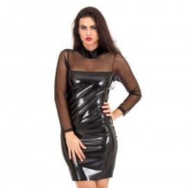 Μαύρο Mini Φόρεμα με C - Throu λεπτομέριες