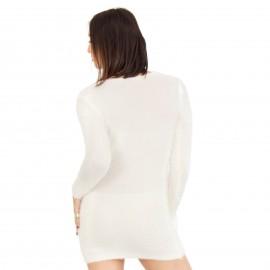 Λευκό Γούνινο Μπλουζοφόρεμα