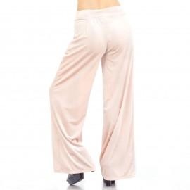 Ρόζ Βελούδινη Παντελόνα