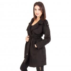 Μαύρο Παλτό με Ζωνάκι