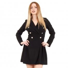 Μαύρο Mini Φόρεμα με Κουμπιά