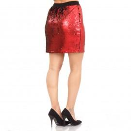 Κόκκινη Mini Φούστα με Παγιέτες