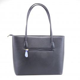 Μαύρη Τετράγωνη Τσάντα Ώμου με Σχέδια