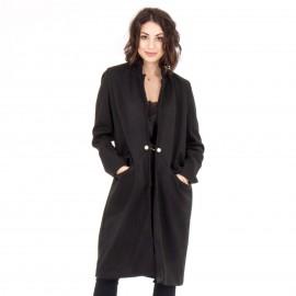 Μαύρο Παλτό με Πέρλα