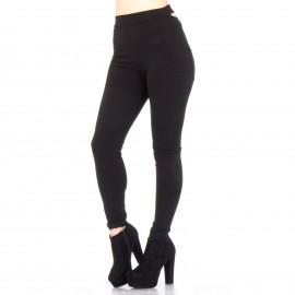 Μαύρο Παντελόνι με Χιαστί Σχέδιο