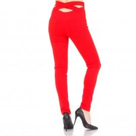 Σετ Κόκκινο Παντελόνι και Crop Top