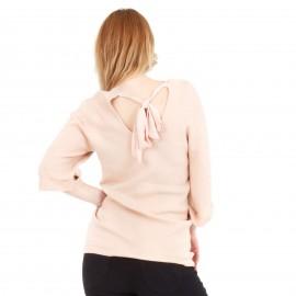 Ρόζ Μπλούζα με Φιόγκο στην Πλάτη