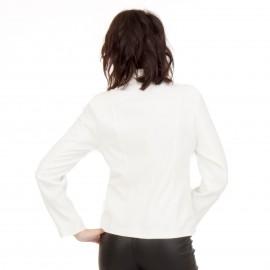 Λευκό Μεσάτο Σακάκι με Κουμπιά