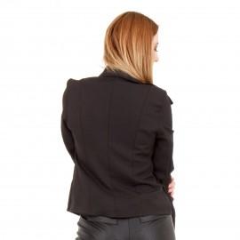 Μαύρο Μεσάτο Σακάκι με Κουμπιά