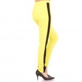 Κίτρινο Σετ Φόρμας με Μαύρη Ρίγα
