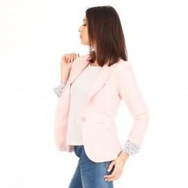 Ρόζ Cropped Σακάκι