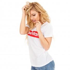 Λευκό Μπλουζάκι με Στάμπα