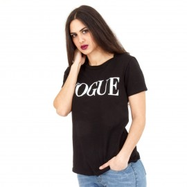 Μαύρο Μπλουζάκι με Στάμπα