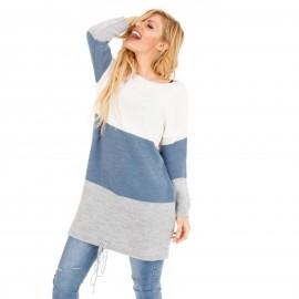Πολύχρωμο Πλεκτό Μπλουζοφόρεμα