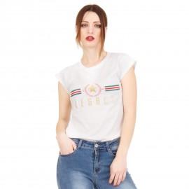 """Λευκό T-Shirt με Στάμπα """"Legacy"""""""