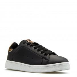 Μαύρα Sneakers με Λεοπάρ Λεπτομέρεια