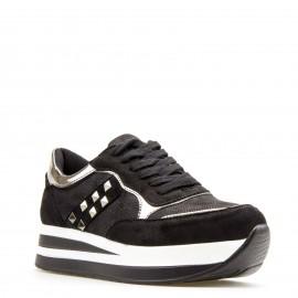 Μαύρα Δίπατα Sneakers με Τρουκς