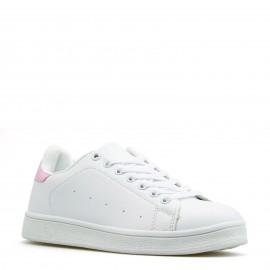 Λευκά Sneakers με Ροζ Λεπομέρεια
