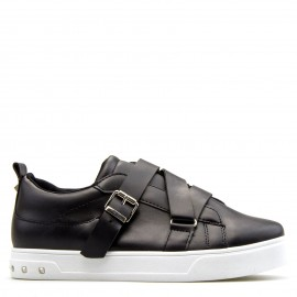 Μαύρα Sneakers με Ζωνάκια και Τρουκς