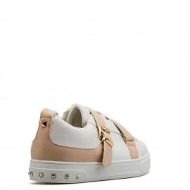 Λευκά Sneakers με Ροζ Ζωνάκια και Τρουκς