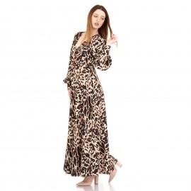 Λεοπάρ Maxi Φόρεμα