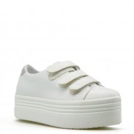 Λευκά Δίπατα Scratch Sneakers