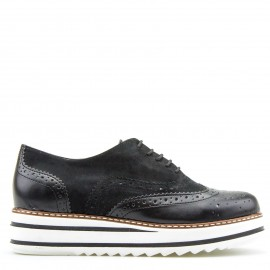 Μαύρα Flatform Oxfords
