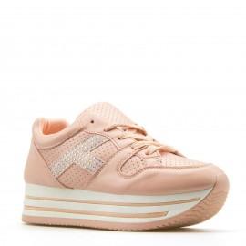 Ροζ Sneakers με Glitter