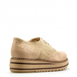 Nude Flatform Oxfords