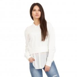 Λευκό Μπλουζοπουκάμισο με Πέρλες