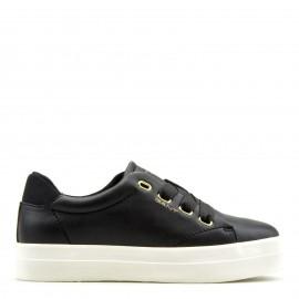 Μαύρα Δερμάτινα Sneakers Gant