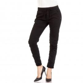 Μαύρο Baggy Παντελόνι με Λάστιχο