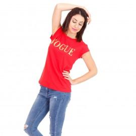 Κόκκινο Μπλουζάκι με Στάμπα
