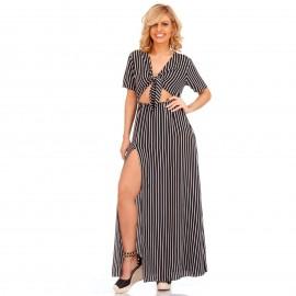 Ριγέ Maxi Φόρεμα