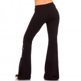 Μαύρο Παντελόνι με Φιόγκο στο Πλάι