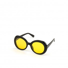 Γυαλιά Ηλίου με Κίτρνο Φακό και Μαύρο Σκελετό