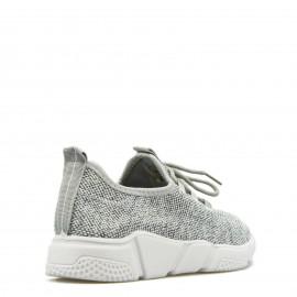 Γκρι Sneakers με Δίχτυ