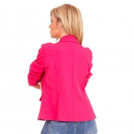Φούξια Σακάκι με Κουμπιά