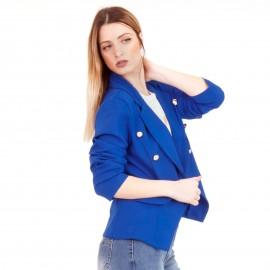 Μπλε Ρουά Σακάκι με Κουμπιά