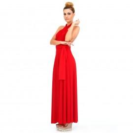 Κόκκινο Maxi Πολυμορφικό Φόρεμα