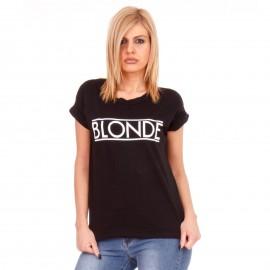 Μαύρο T-Shirt με Στάμπα ''Blonde''