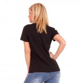 Μαύρο T-Shirt με Λευκή Στάμπα