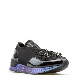 Μαύρα Sneakers Tamaris με Glitter