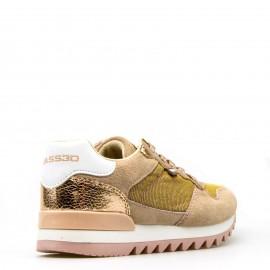 Ροζ Sneakers B3D By Xti με Χρυσές Λεπτομέρειες