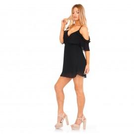 Μαύρο Πλισέ Φόρεμα
