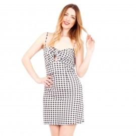 Καρό Mini Φόρεμα