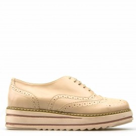 Nude Ματ Flatform Oxfords